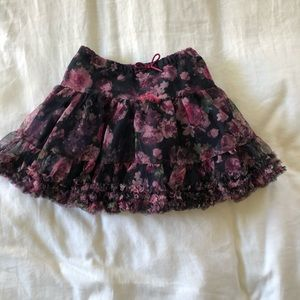 H&M girls floral skirt sz 4-5